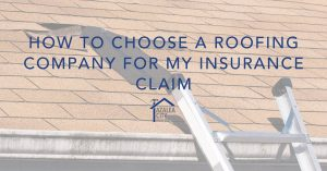 roofing for insurance claim